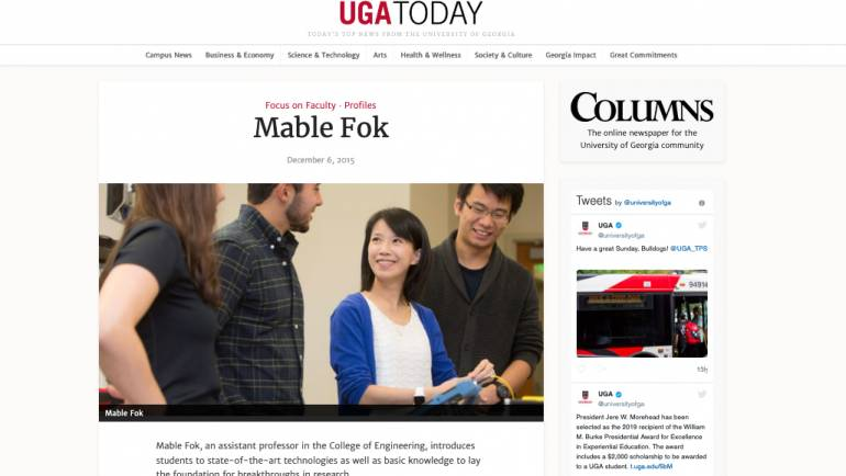 Dr. Mable Fok is featured in Focus on Faculty