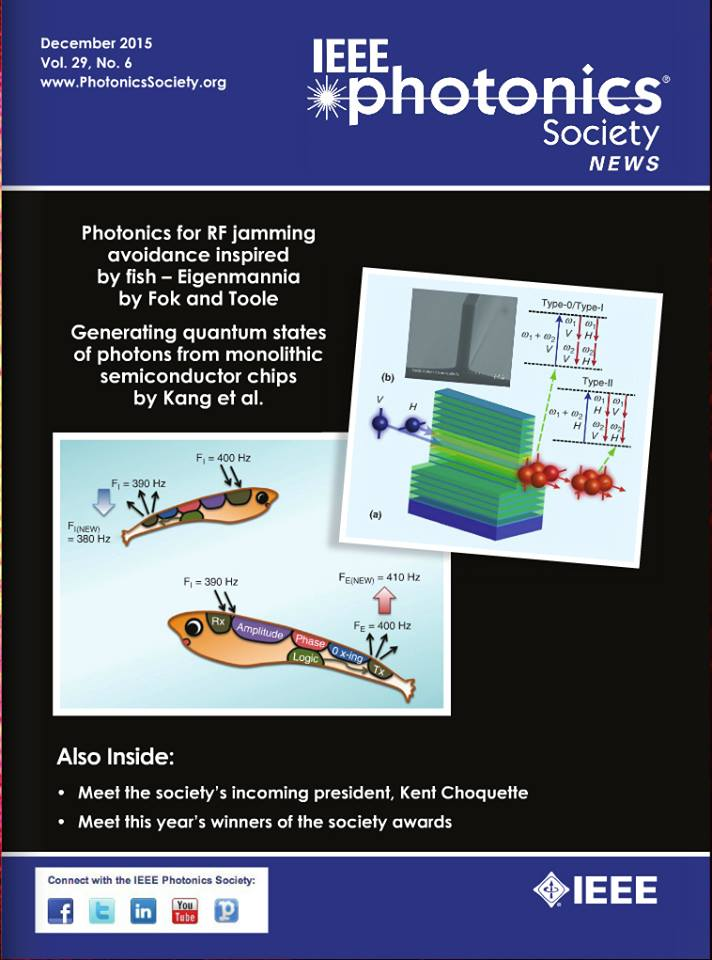 JAR project is highlighted in IEEE Photonics News