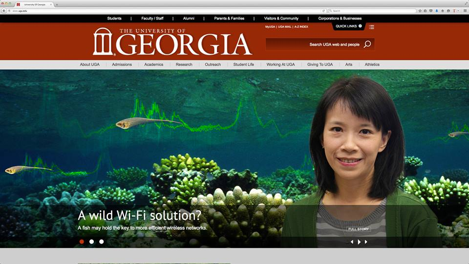 JAR project is highlight in UGA front page