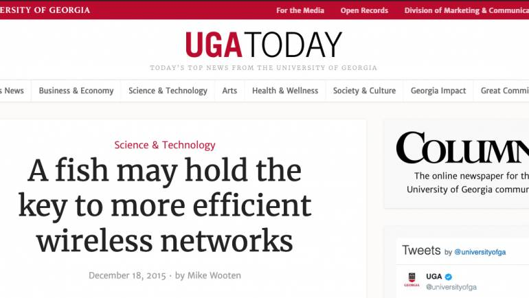 JAR project is highlighted in UGA Today