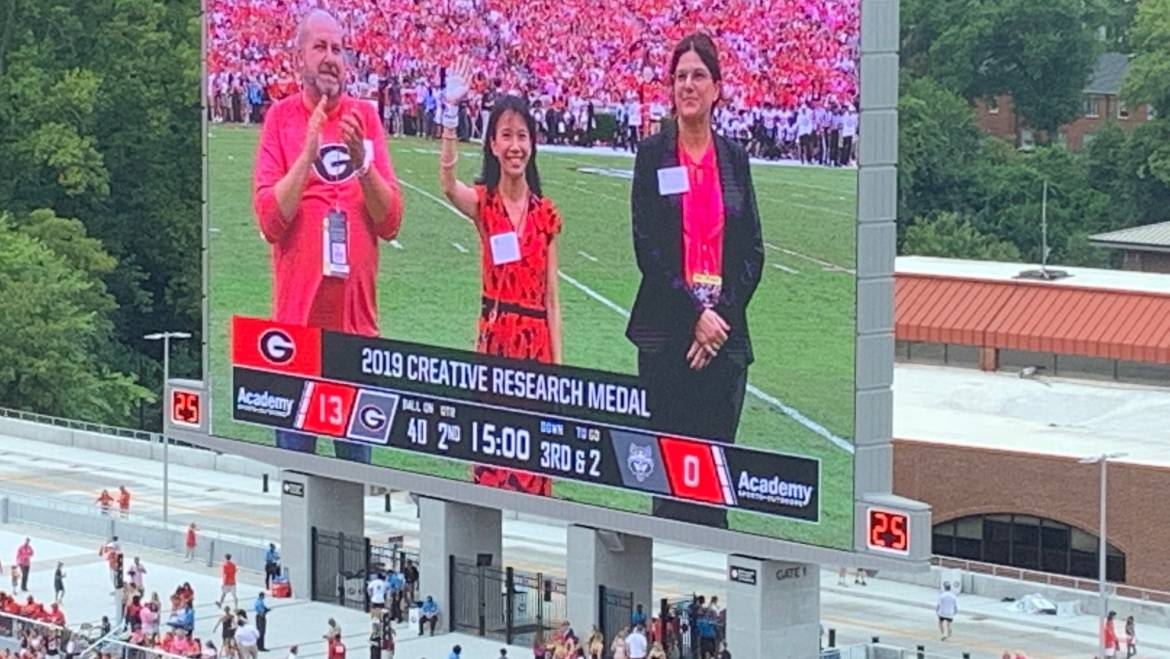 Mable Fok is being recognized at the UGA football game!